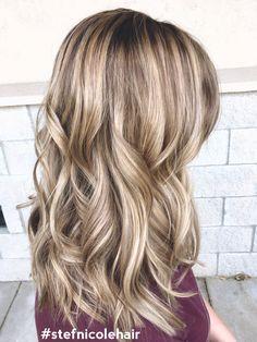 Blonde hilights brown hair