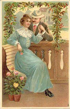 """"""" Lover's """" Karodens Vintage Post Cards."""