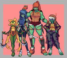 Cartoonzy — I guess I have a condition? I have to draw canon. Ninja Turtles Art, Teenage Mutant Ninja Turtles, Ninja Turtle Toys, Tmnt Girls, Tmnt Comics, Tmnt 2012, Cartoon Crossovers, Fan Art, Cartoon Art