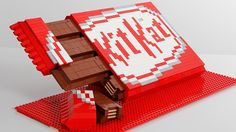 A Hungry person plus a kit Kat bar plus imagination plus staying at home plus Legos Equals genius!!