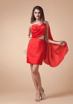Tadashi Red Cocktail Dress