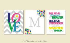 Believe In Yourself Love Monogram with Chevrons by 7-Wonders Design