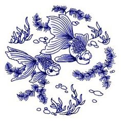 Traditional pattern on Chinese blue and white porcelain 青花瓷上的传统图案 cultureincart Chinese Design, Asian Design, Chinese Art, Chinese Embroidery, Embroidery Art, Embroidery Patterns, Chinese Patterns, Fish Patterns, New Project Ideas