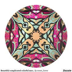 Beautiful complicated colorful moroccan ornament. paper plate make interior unique and add aesthetics sense. Ornament create in oriental tradition. #Home #decor #Room #Interior #decorating #Idea #Styles