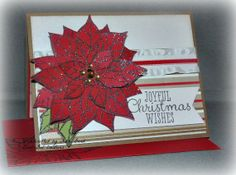 Poinsettia Handmade Christmas Card with by BondGirlCreations26, $6.00