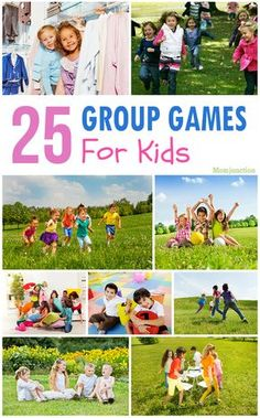 Top 25 Group Games For Kids: here are 25 group games that kids can enjoy using household items.
