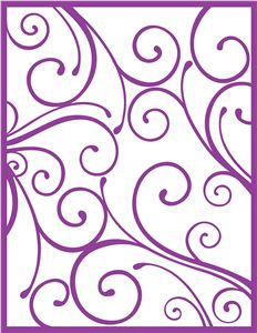 Silhouette Online Store - View Design #25442: swirl background