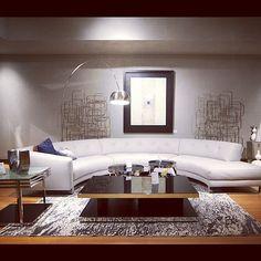 An inviting #livingroom: Ambra #Sectional setting at Cantoni Dallas.