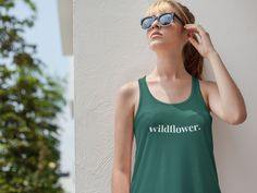 In a field of roses, be a wildflower.  Wildflower women's short and long-sleeve tees, tank tops, and mug. Love S, Comfortable Outfits, Wild Flowers, Shop Now, Long Sleeve Tees, Tank Tops, Accessories, Shopping, Clothes
