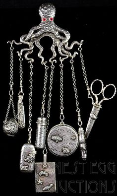 19th C. Gorham Sterling silver Chatelaine