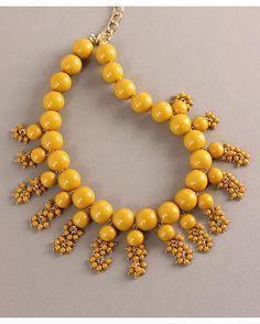 Mustard Bead Statement Necklace