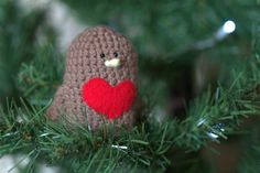 Robin Red Breast - Crochet Amigurumi Birds, Perfect for Christmas on Etsy, £5.00