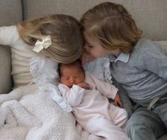 Princess Leonore and Prince Nicolas welcomed their little sister Princess Adrienne