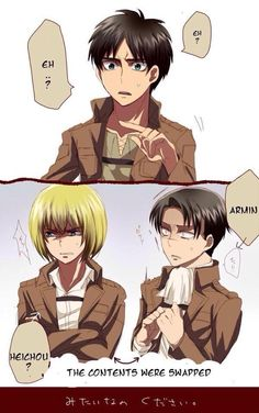 XD// well atleast levi will know how it feels like to not be fucking small
