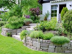 Image result for retaining wall ideas for front yard