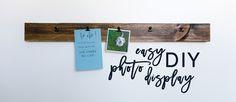 Easy DIY Photo Display // Apartment Decor