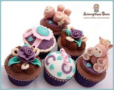 Pony Cupcakes by Scrumptious Buns (Samantha), via Flickr