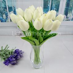 New Artificial Tulip 6 Pieces for Wedding and Party Decoration - USD $6.99