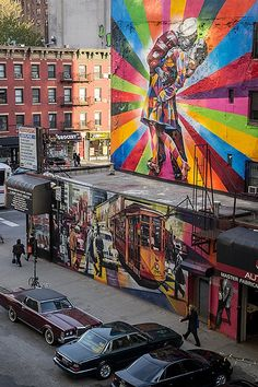NYC graffiti. This was taken from the High Line, a linear park built on a former elevated railroad. This place is really nice for a walk and gives you lots of points of views on the city.