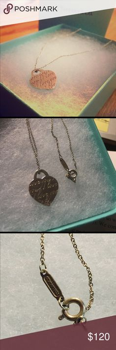 """Authentic """"I Love You"""" Tiffany Necklace 16"""" chain Super cute """"I Love You"""" authentic Tiffany necklace on a 16"""" chain. Great piece for any outfit! It's lightly used but in great condition! Box included! Please feel free to make an offer I'm always willing to negotiate! Tiffany & Co. Jewelry Necklaces"""