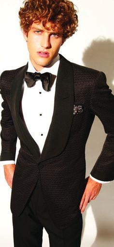 A very modern twist on the classic tuxedo jacket.