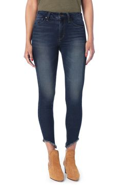 Shop a great selection of Joe's Hi Rise Honey Curvy Skinny Ankle Jeans (Antoinette). Find new offer and Similar products for Joe's Hi Rise Honey Curvy Skinny Ankle Jeans (Antoinette). Denim Jumpsuit, Denim Pants, Skinny Ankle Jeans, Skinny Pants, Beautiful Joe, Suede Moto Jacket, Joes Jeans, Girls Jeans, Trendy Outfits