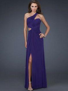 Erstaunlich Mantel / Spalte eine Schulter ärmellose bodenlangen Chiffon Prom / Abendkleider221,32 €   126,47 €