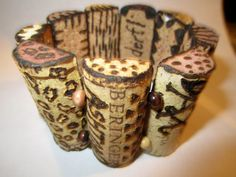 Wine Cork Bracelet....This is what I'm working up to do! Girls, what do you think??