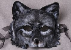 Wolf, Black Wolf Mask. $145.00, via Etsy.