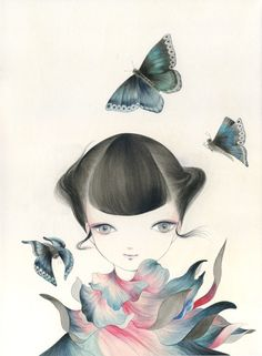 Butterfly in the space © Mika Nitta