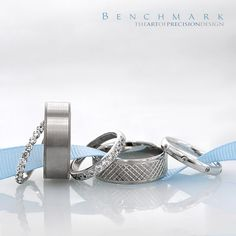 Follow @benchmarkrings to see more content!  #benchmarkretailer #benchmarkwk10  Benchmark Style #: (L to R) 552622W, CF68434W, 523727HFW, CF68320W & LCF130DW