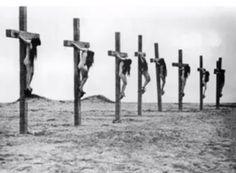 Muslim Leaders Crucified Armenian Christian Girls 1915 Ottoman Caliphate Genocide Sharia Law