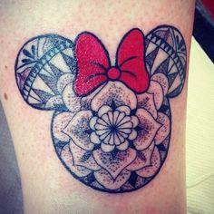 """Mandala Minnie Mouse. Done by tattoo artist @yasimckim go follow…"