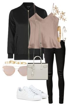 Untitled #248 by thinguyen-x on Polyvore featuring polyvore Topshop Etro rag & bone/JEAN adidas Yves Saint Laurent Kendra Scott Bonheur Cartier Letters By Zoe fashion style clothing
