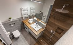 Gdańsk Motława - Średnia łazienka bez okna, styl nowoczesny - zdjęcie od juliarz