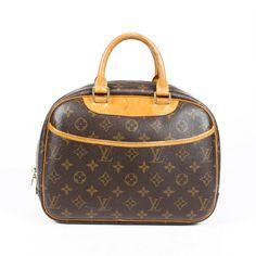 $440 • Buy Louis Vuitton Trouville Monogram Handbag Louis Vuitton Handbags Black, Buy Louis Vuitton, Louis Vuitton Speedy Bag, Louis Vuitton Monogram, Vintage Leather, Handmade Leather, Leather Handbags, Leather Bags, Leather Shoulder Bag