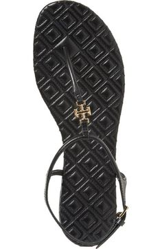 Free shipping and returns on Tory Burch 'Marion' Quilted Sandal (Women) at Nordstrom.com. A quilted medallion and footbed underscore the refined style of a casual-chic flat sandal in smooth leather.