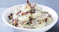 Salade de pommes de terre et jambon cru à la moutarde à l'ancienneVoir la…
