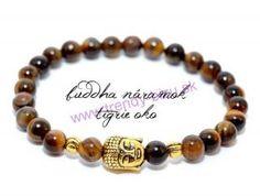 BUDDHA náramok gold tigrie oko Buddha, Beaded Bracelets, Gold, Jewelry, Jewlery, Jewerly, Pearl Bracelets, Schmuck, Jewels