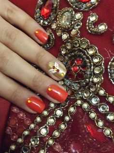 Indian Nail art-wedding special
