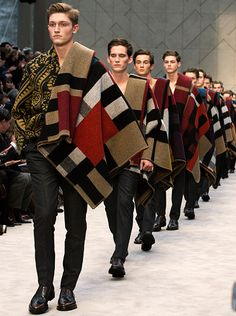 A Painterly Journey - the finale of the Burberry Prorsum Menswear A/W14 show