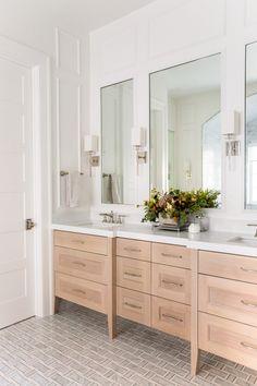 The SMI Inland Coastal: Master Bathroom Reveal - Sita Montgomery Interiors Master Bathroom Vanity, Bathroom Vanity Designs, Bathroom Interior Design, Small Bathroom, Bathroom Vanities, Bathroom Ideas, Modern Master Bathroom, Budget Bathroom, Bathroom Cabinets