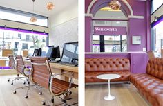 Ongoing refurbishment of Winkworth Estate Agents' office interiors, as part of phase one of the ambitious re-brand of 94 offices throughout the UK.
