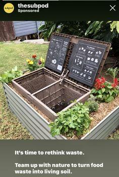 Turn Food Waste into Soil Food – Subpod Plant Health, Garden Compost, Garden Seating, Grow Your Own Food, Raised Garden Beds, Garden Farm, Raised Gardens, Veg Garden, Garden Soil