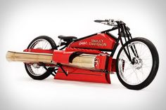 The 1929 Harley-Davidson Jet Engine Motorcycle. Yes, you read that correctly. It's based on a 1929 Broad Track Racer, and is powered by twin jet engines that hug either side.