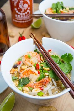 Pad Thai Soup....Ummm I made the broth portion and did not like it at all so, instead of wasting the shrimp I moved on to something else! The picture is pretty though lol ~ABR