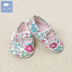 davebella Дэвид Bella женского пола ребенка весна новой печатной танцевальная обувь детская обувь малыша DB1120