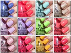 China Glaze Spring 2014 City Flourish Collection Swatches...ahh even more obsessed with these than OPI spring! Soo many good colors this season!!!