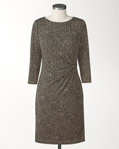Look fabulous and chic in this Circle cinched dress. (Via @Dusty Post Creek www.coldwatercreek.com)