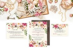 I love the look of this design -- very floral; blush tones. This designer does a good job of integrating Vietnamese invitation wording into a more personal looking invite.